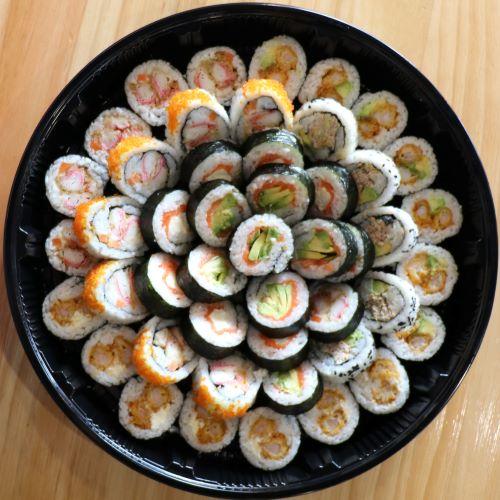seafood sushi platter